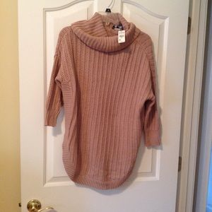 Express Circle Hem Sweater in Dusty Pink, NWT, XS